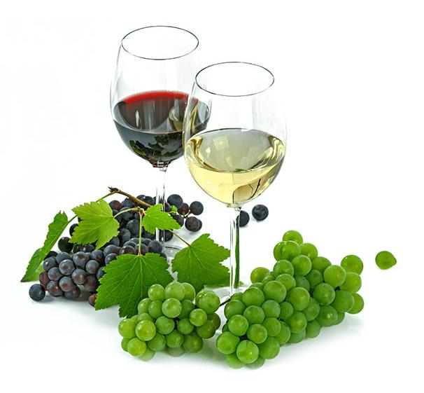 Wino czerwone i wino białe